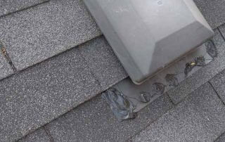 Caulking roof vent